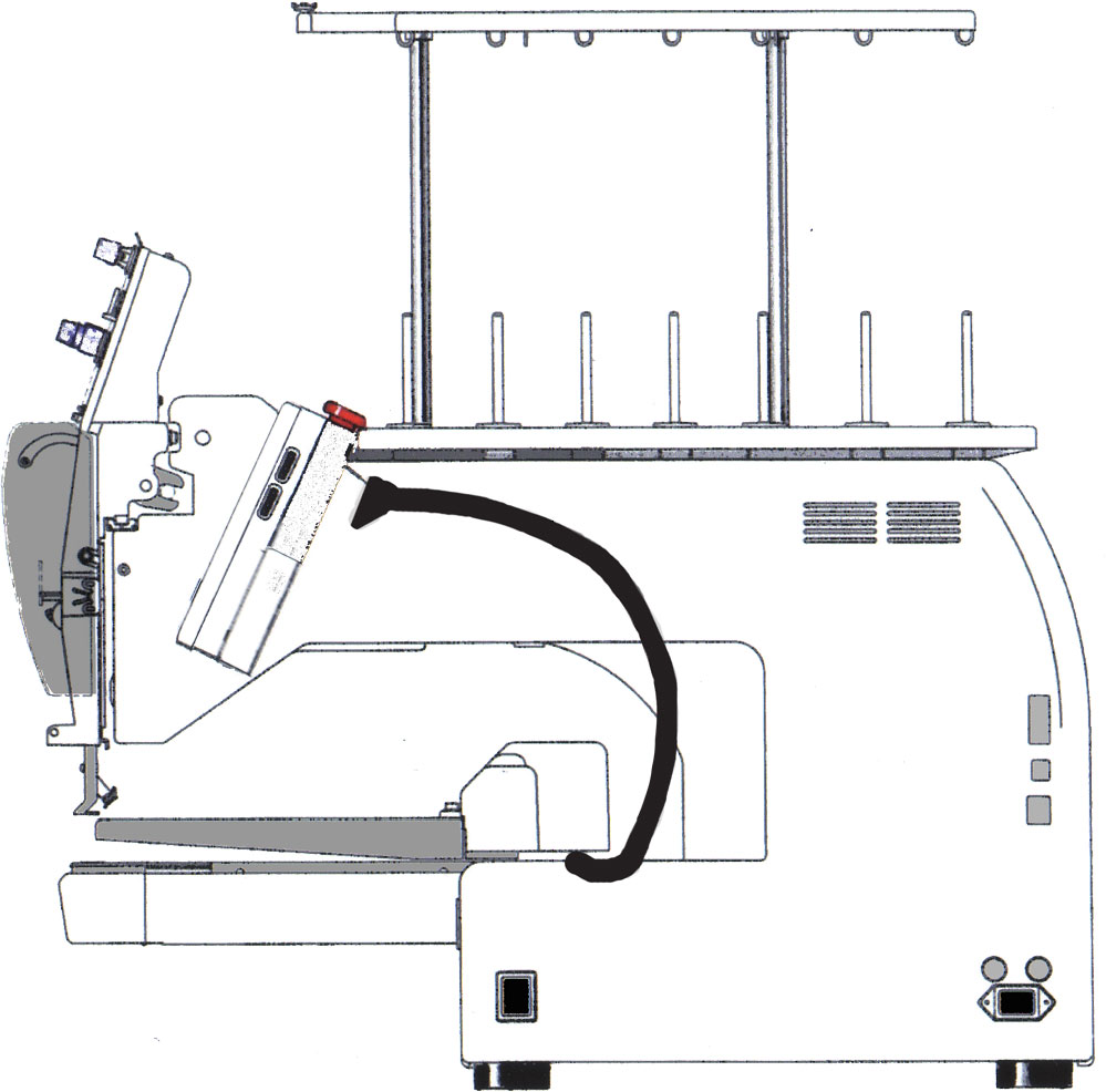 Voyager 1 Head Embroidery Machine Happy Multi Needle Circuit Diagram Side View 7 Journey