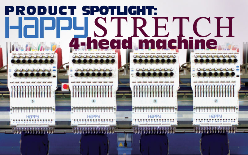 happy 4-head stretch embroidery machine