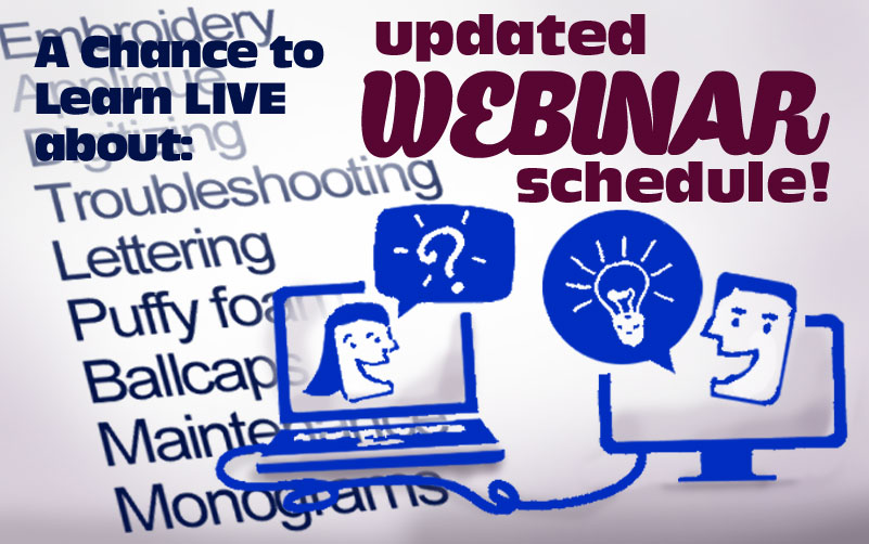 embroidery machine webinars