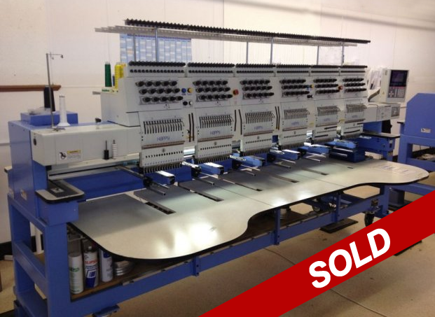 used happy multihead embroidery machine