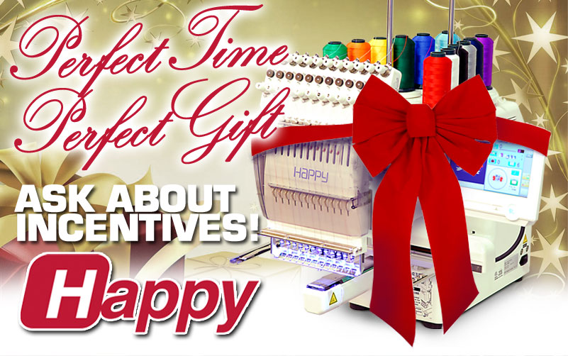 gift a HAPPY embroidery machine for the holidays!
