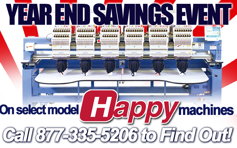 savings on happy embroidery machines
