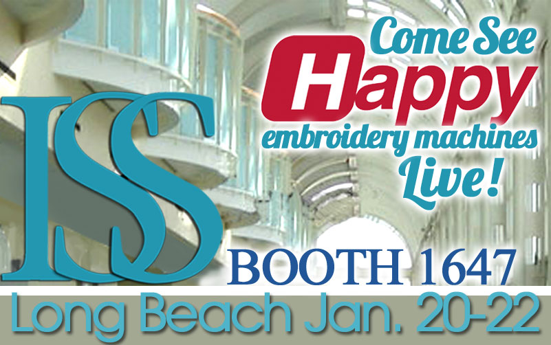 Happy embroidery machines ISS Long Beach