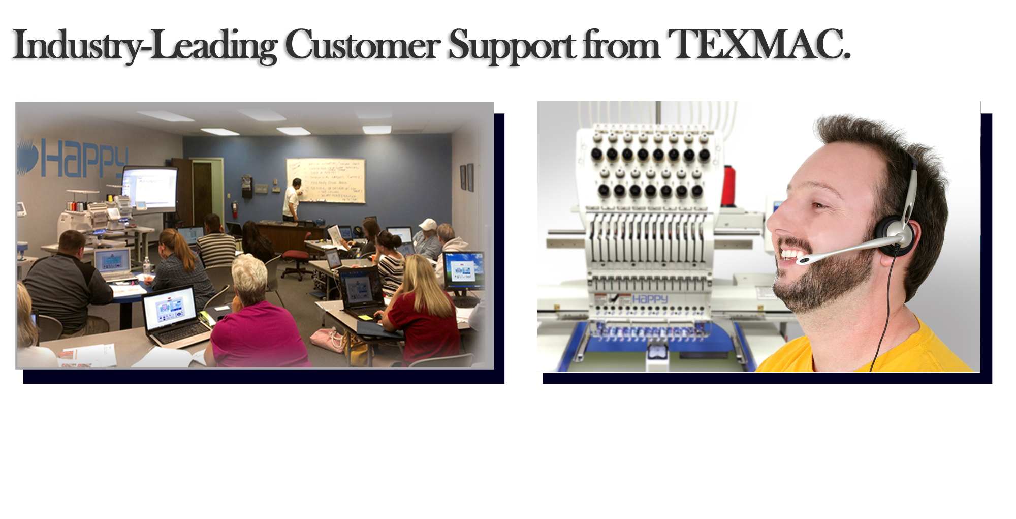 Happy embroidery machine customer support