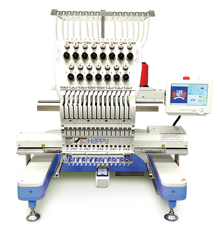 Happy HCD2-1501 15-needle embroidery machine