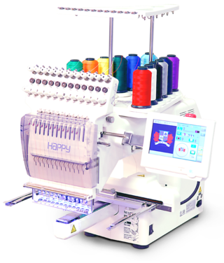 Happy HCS2-1201 Voyager embroidery machine