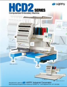 happy hcd2 embroidery machine brochure