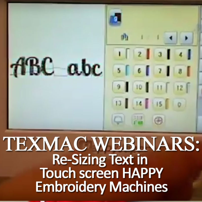 Happy embroidery machine webinar
