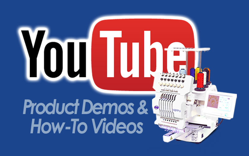Happy Embroidery Machines YouTube channel