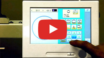 happy embrodiery machine touch screen controller
