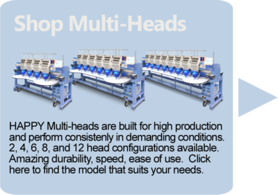 link to Happy multi-head embroidery machines