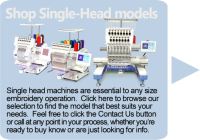 link to single head embroidery machines
