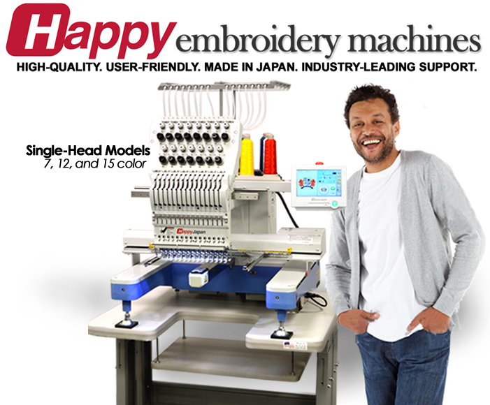 Happy single head embroidery machines