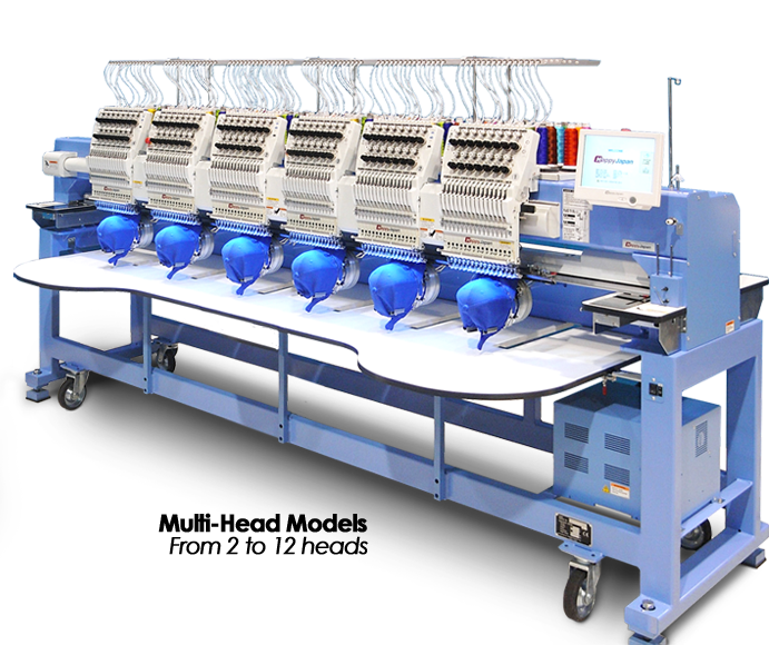 Happy HCR3-series multi-head commercial embroidery machines