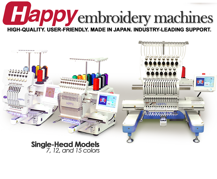 Happy Multi-needle Embroidery Machines – TEXMAC Happy is the
