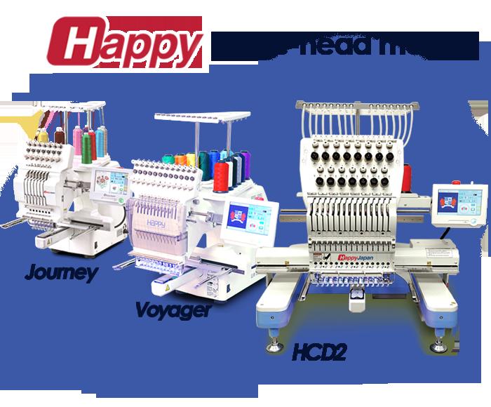 Happy single-head embroidery machines