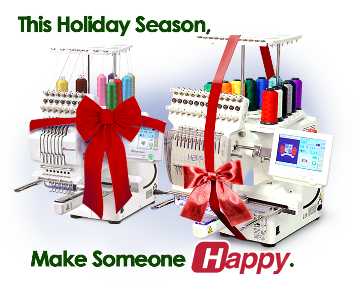 give the gift of a new Happy embroidery machine