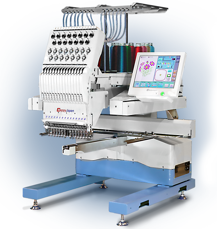 happy hcu-1501 commercial embroidery machine
