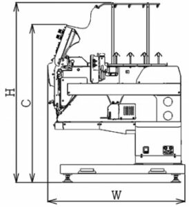 hcu embroidery machine diagram, side