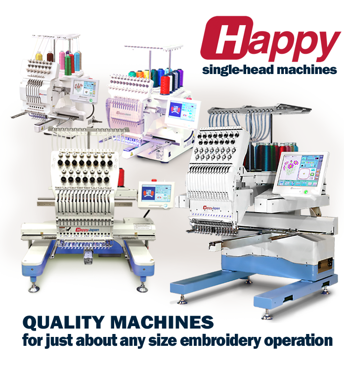 Happy single head embroidery machines