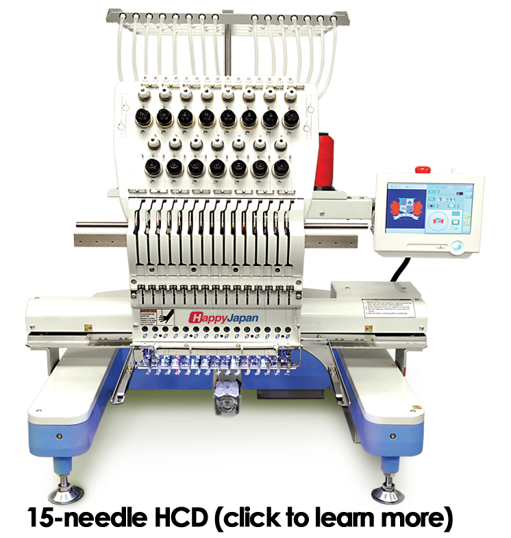 hcd-1501 single-head embroidery machine