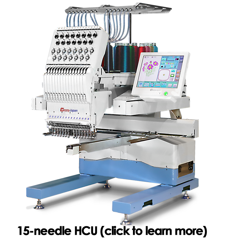 Happy hcu-1501 commercial single-head embroidery machine