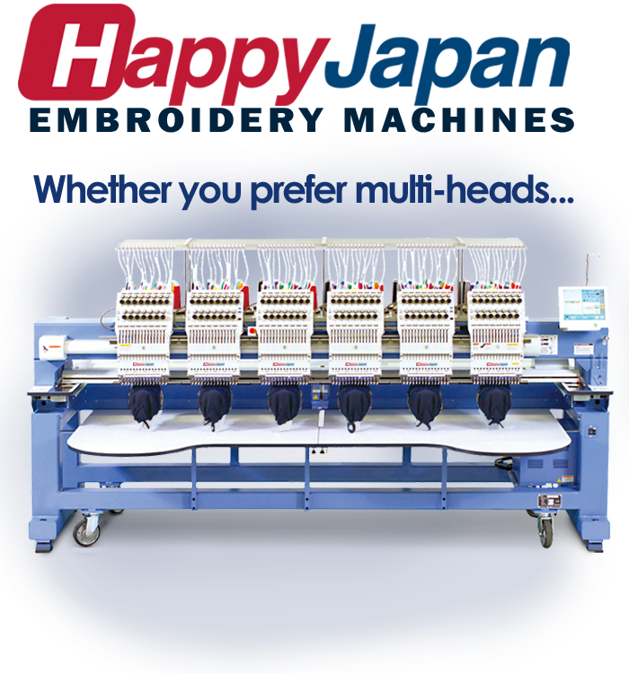 Happy multi-head embroidery machines