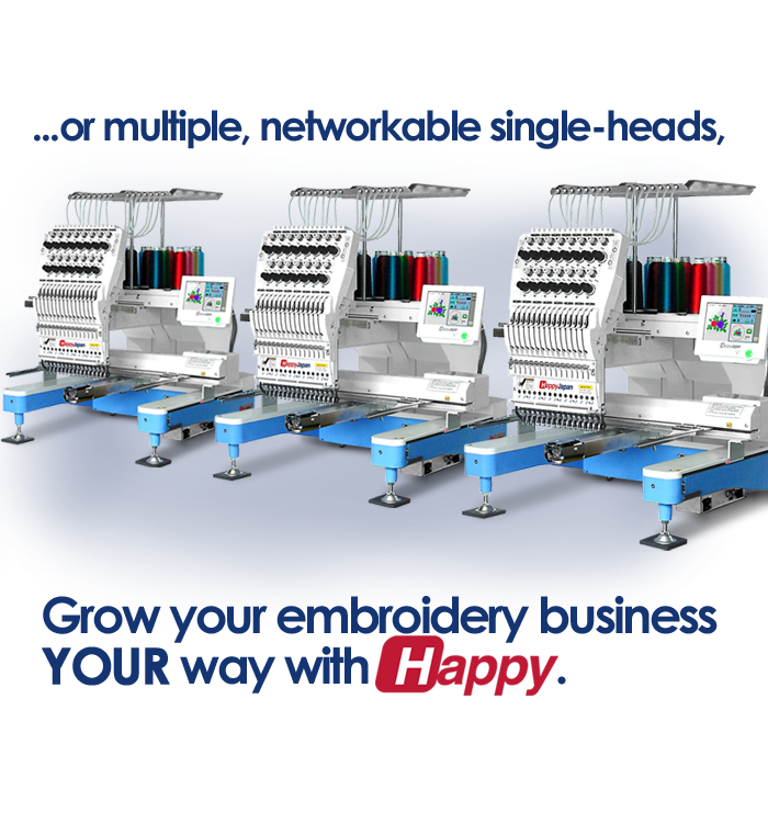 Happy single-head embroidery machines