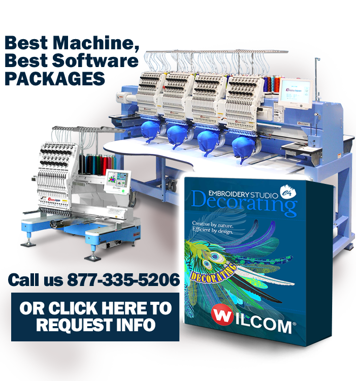 Happy embroidery machines and Wilcom software package