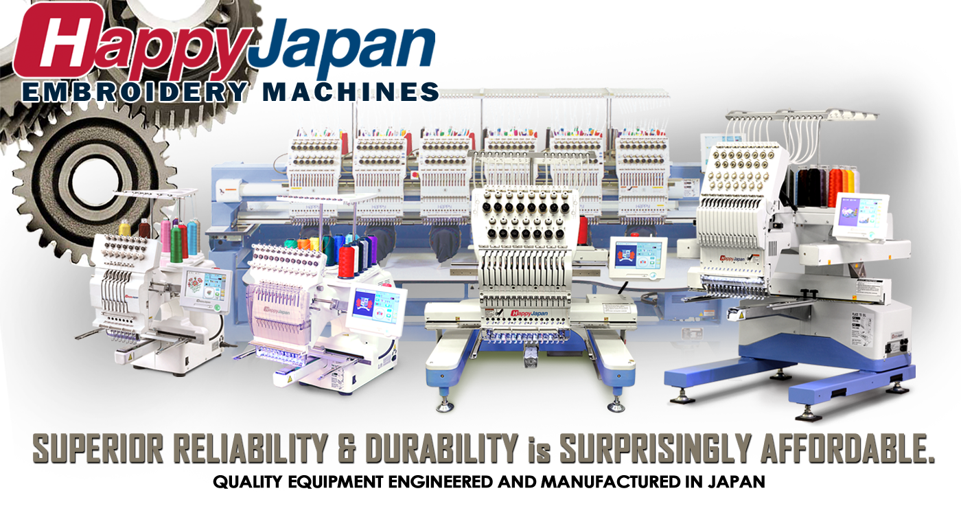 happy embroidery machines have superior reliability