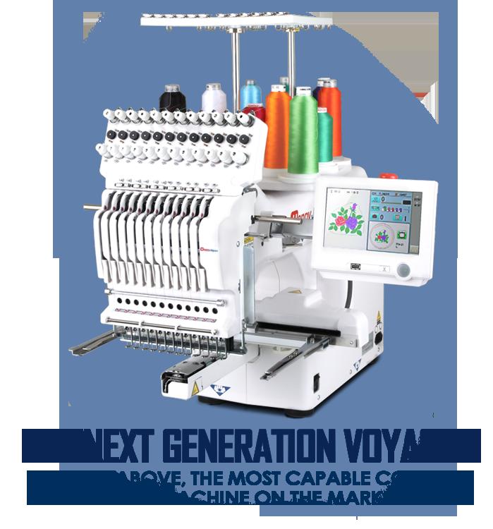 Happy HCS3 12-needle Voyager embroidery machine
